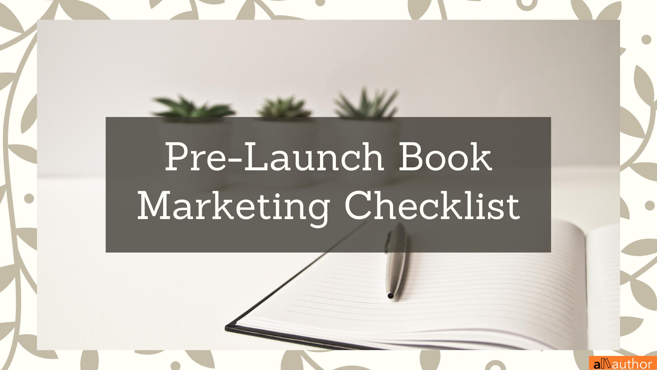 pre-launch book marketing checklist
